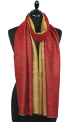 Pashmina bicolore rouge/or