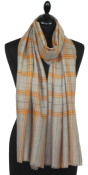 Pashmina naturel beige & orange