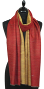 Pashmina bicolore rouge & or